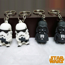 Fancy&Fantasy Star War Keychain Darth Vader Storm Trooper Action Minifigure Keychain Star War Action Figures Toy Gift Llavero(China)