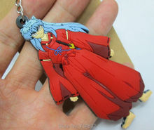 10 pcs/lot Inuyasha figures PVC keychains & pendants free shipping(China)