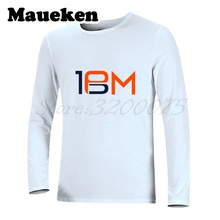 Men Autumn Winter Denver Legend #18 Peyton Manning Logo T-Shirt Long Sleeve Tees T SHIRT Men's Legend W1030006(China)