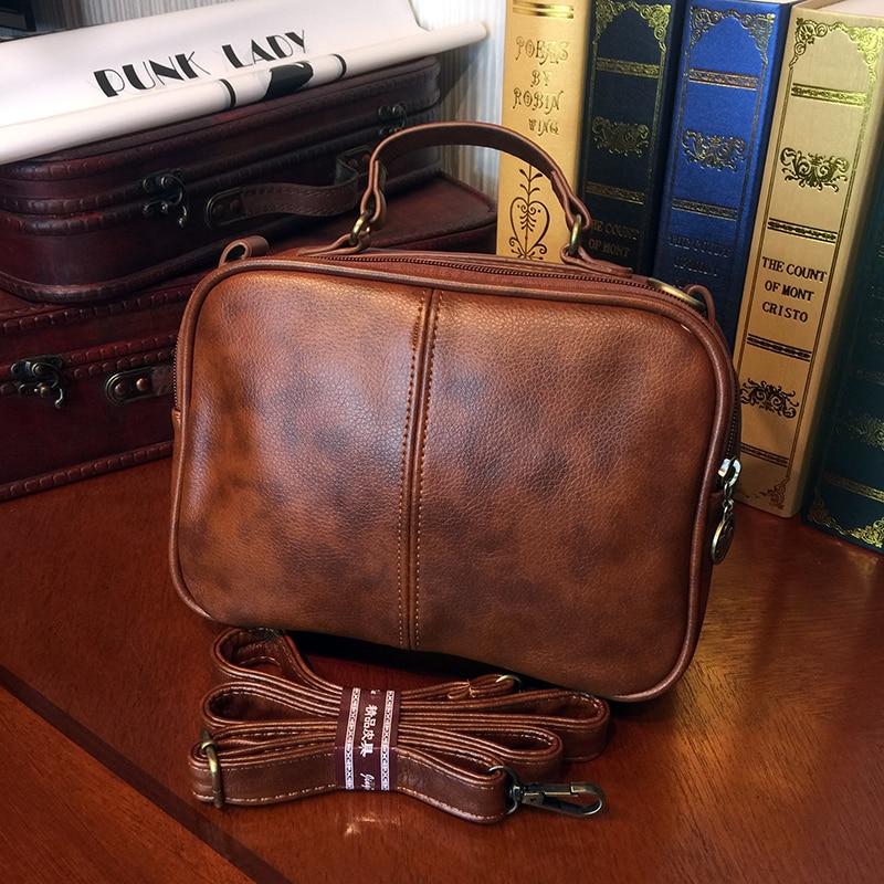 ETONWEAG Brands Leather Designer Handbags High Quality Brown Vintage Crossbody Shoulder Bag Zipper Small Women Messenger Bags<br>