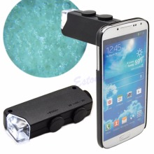 2017 Mini Handheld 60X-100X LED Lighted Microscope Magnifier Glass Lens Jeweler Loupe MAR16_15