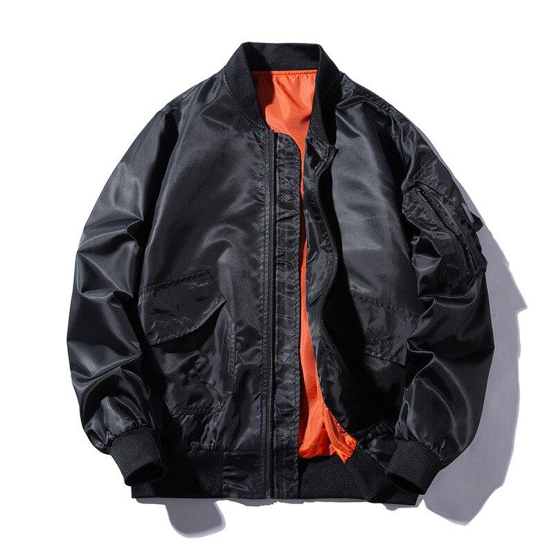 MA-1 Water Resistant Reversible Men/'s Flight Pilot Bomber Jacket Black Orange