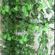 1 PCS 2.5m Artificial cheap Ivy Leaf Artificial Plants Green Garland Plants Vine Fake Foliage Home Decoration Wedding Decoration(China)