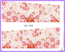 Nail Sticker Full Cover Plum Cherry Blossoms Water Transfers Stickers Nail Decals YB589-594(China)