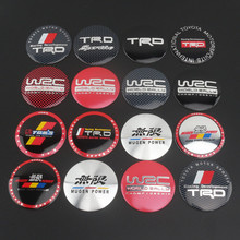 4pcs  56.5mm TRD WRC MUGEN POWER  sportivo TRDsportivo Car emblem Wheel Center Hub Cap wheel Badge covers Auto accessories
