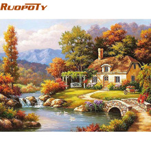 RUOPOTY Fairyland Landscape Diy Digital Painting By Numbers Kits Coloring Painting By Numbers Unique Gift For Home Decoration