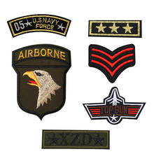 6pcs cute men boy clothes military mark logo patch iron on patches for clothing fashion fabric DIY army motif U.S Navy airborne