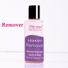 Lily angle 60ML New Nail Art Acrylic UV Gel Remover Tip Cleanser Plus Clean Liquid Soak Off Cleanser Acetone Nail Art Tools