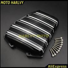 Motocycle Parts AN Style Black Engine Cover Anodize Finish Forged Aluminum Cam Cover For Harley Twincam Softail Touring 01-16