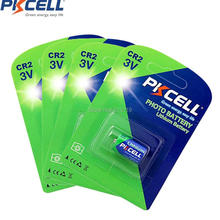 4 Cards 4Pieces PKCELL CR2 15270 CR15H270 3V 850mAh CR2 3V Lithium Battery(China)