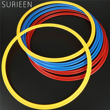 SURIEEN 6PCS 40cm Soccer Speed Agility Rings Sensitive Football Equipment Pace Lap Football Ball Training Tool Red Blue Yellow