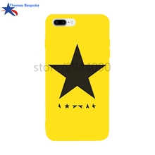 David Bowie Blackstar For Iphone Case 7/8 4.7 Inch Anti-Knock Soft TPU Back Covers For Iphone 6s Plus Candy Colors For Iphone X(China)