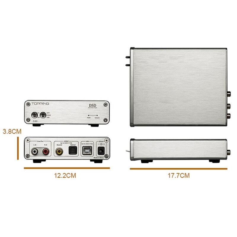 TOPPING A30+D30 Headphone Power Amplifier+Decoder Set Support USB DAC/Optical Fiber/Coaxial Decoding XMOS+Decoding TPA6120