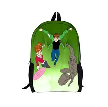 whosepet-new design ben 10 backpack school bag for boys ben 10 cartoon character bag for kid free shipping(China)