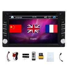 "Free Map Card+Double 2 Din Car Radio DVD Player Car Video In Dash Car Stereo 6.2"" Touch Screen Universal GPS Headunit Bluetooth(China)"