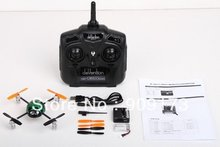 2.4G 3D Walkera Micro 4CH UFO RC QR Ladybird V2 Quadcopter with 4ch Transmitter Devo4 TX RTF Set(China)