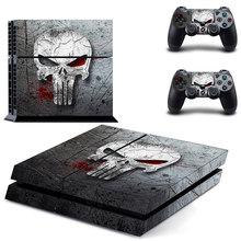 New Skull PS4 Skin Sticker For Sony Play Station 4 Console + 2 Controllers Cover Decal Skins(China)