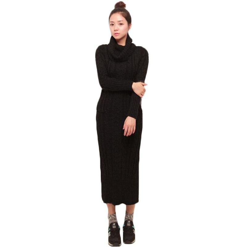 Twist Women Long Sweater Dress 2017 New Sexy Slim Bodycon Dresses Turtleneck Back Split Dress Brief Knitted Dress Vestidos XH839Îäåæäà è àêñåññóàðû<br><br>