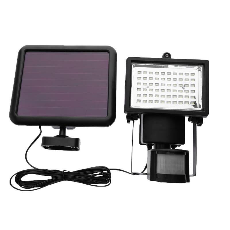 Solar Led Powered Garden Lawn Lights Outdoor PIR Motion Sensor Light 60 LED Solar Motion Detection Wall Light<br>