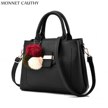 MONNET CAUTHY 2017 New Women Bags Solid Color Black Red Green Grey Purple Pink Totes Classic Concise Girls Fashion Crossbody Bag