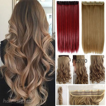 All Colors Long Curly/Wavy Hair extensions 100% Real Thick human Heat resistant Clip in Hair Extension Black Brown Blonde Red