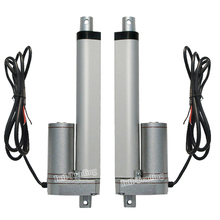 2PCS 150mm Stroke 12Volt DC Electric Linear Actuator,5.7mm/sec 1500N=150KG Max Load Lift for Electric Sofa, Bed, Window