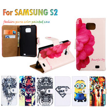 Terrific Shield Cases Hood For Samsung Galaxy SII I9100 4.3 Inch S2 GT-I9100 Anti-knock Shell Flip Holster Painted Leather Cover