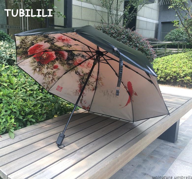 Oil Painting Umbrella Drawing Sunshade Brand Art Umbrella UV Protection Waterproof Quality Umbrella Sombrillas Chinas(China (Mainland))