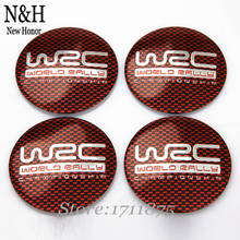 For Opel Porsche Peugeot Land Rover Skoda For Red Grid WRC Logo Wheel Center Hub Caps 56.5mm Arc Surface Emblem Badge Stickers