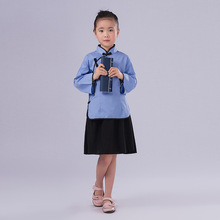Blouse + Skirt  Children Chinese Ancient Costume For Girl Hanfu Clothing Kid Chinese Traditional Clothes For Stage Performance 6