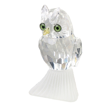 X'mas Gifts 2.7inch Clear Crystal Owl Figurines Paperweight Craft Art&Collection Table Car Ornaments Souvenir Home Wedding Decor