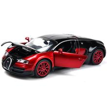 1:32 Scale Bugatti Veyron Alloy Diecast Car Model Pull Back Toy Cars Electronic Car Kids Toys Gifts Free Shipping