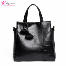 2017 New Fashion Black Women Bag Bucket Shoulder Bags Famous Brand Ladies Large PU Leather Handbags Femme Rice White Tote Bags