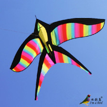 High Quality  NEW Toy Rainbow Bird Kites With Handle Line Nylon Good  Flying Factory Direct  Sale