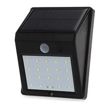 20 LEDs Solar Power PIR Motion Sensor Wall Light  Outdoor Waterproof Energy Saving Street Yard Path Home Garden Security Lamp