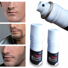 2016 New Hot Men's Fashion 60ML Beard Growth Spray Mustache Thicker Fuller Hair Growth Liquid