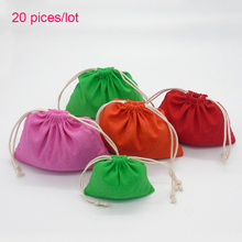 HDEBAG Big Size Drawstring Storage Bags Colorful Cotton Gift Shoes Packing Bags Party Decoration DIY Customized Own Logo