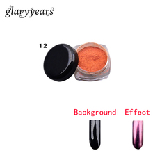 1 Piece Nail Art Magic Mirror Effect Powder Ultrafine Pigment Design Manicures Decor Mirror Dust Powder Sexy Product for Nail 12(China)