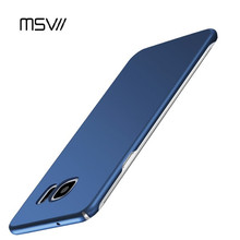 MSVII Cell Phone Case For Samsung Galaxy S7 /  S7 Edge S8 / Plus Smooth & Dull Polished Hard PC Plastic Covers For Trendy Women