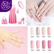 Sexy Mix 8pcs/set Gel Nail Polish Sets Soak off Gel Varnishes Nail Art Design Long Lasting 3d UV Gel Lacquer Kits Manicure set(China)