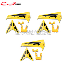 Free shipping Wholesale/SYMA S107 spare parts Tail decoration (Yellow) S107-03 for S107G RC Helicopter from origin factory(China)
