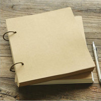 A4A5 Kraft Paper Concise Spiral Blank Sketchbook Business Vintage Coil Student Painting Notebook Diary Creative Scrapbook