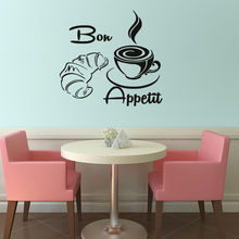 Coffee With Beard Vinyl Wall Stickers Waterproof Wall Decal Home Design Wallpaper For Coffee Shop Kitchen Stickers SA123(China)