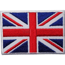 1pc custom embroidery patches/UK flag embroidery patches/high quality flag patch for underwear/ fashion accessory