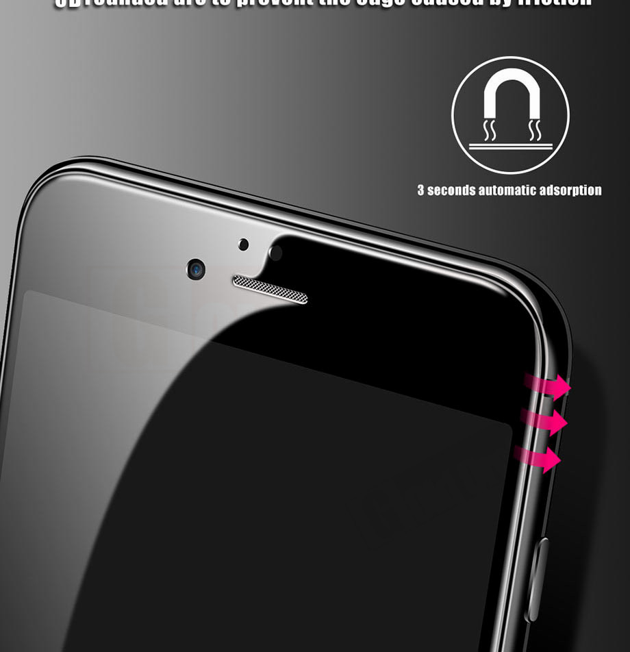 3-PC-For iPhone 6 6s Tempered Glass 5D For iPhone 7 8 Plus Screen Protector For iPhone X Film Glass