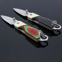 Small Folding Knife Stainless Steel Blade Multi Color Handle Pocket Knife Outdoor Survival EDC Tool
