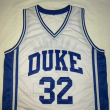 CHRISTIAN LAETTNER DUKE Blue Devils White Basketball Jersey Embroidery Stitched Customize any size and name
