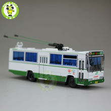 1:76 Scale ShangHai Brand Trolleybus China GuangZhou Bus NO.103 Diecast Bus Car Model