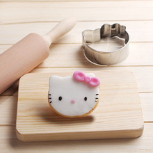 Hello Kitty Cookies Cutter Stainless Steel Biscuit Cake Mold Metal Kitchen Fondant Baking Tools