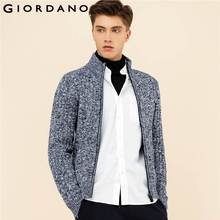 Giordano Men Sweater Stand Collar Long Sleeves Cardigan Zipper Sweaters Cotton Blending Sueter Outerwear Hombre Masculina(China)